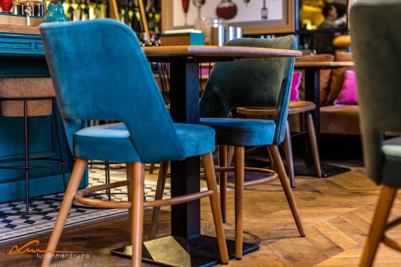 Bujole restaurant velvet chairs