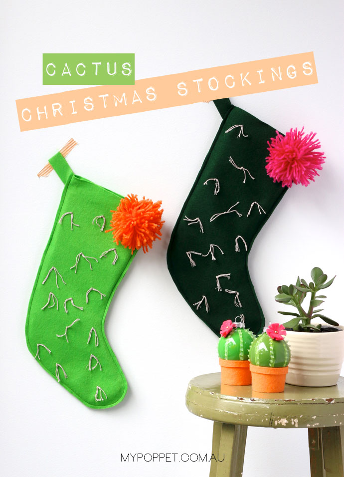 Cactus Christmas Stocking Pattern