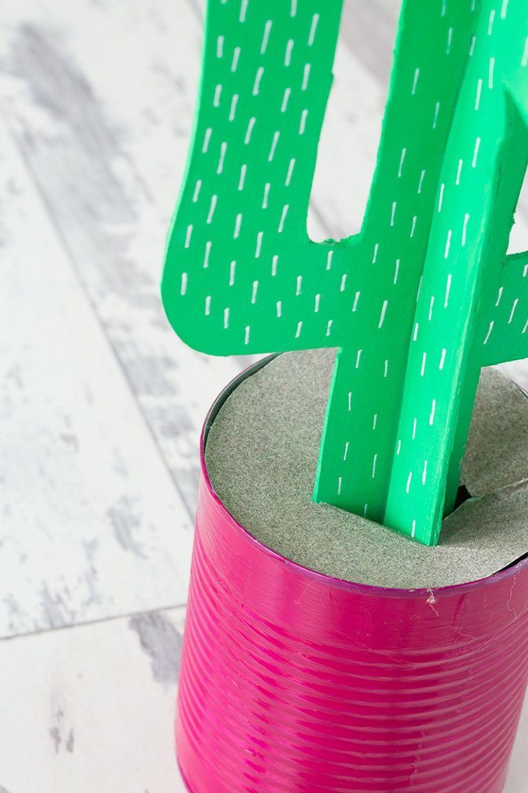 Cardboard Cactus DIY Attach