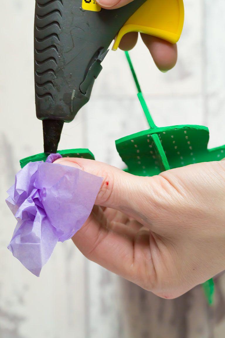 Cardboard Cactus DIY Glue Flowers