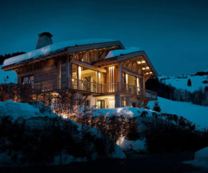 Alpine Chalet With An Indoor Pool And A Minimalist Interior Design