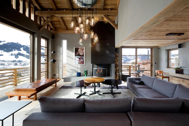 Alpine Chalet With An Indoor Pool And A Minimalist