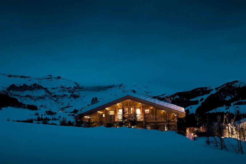 Chalet Cyanella verschneite Umgebung