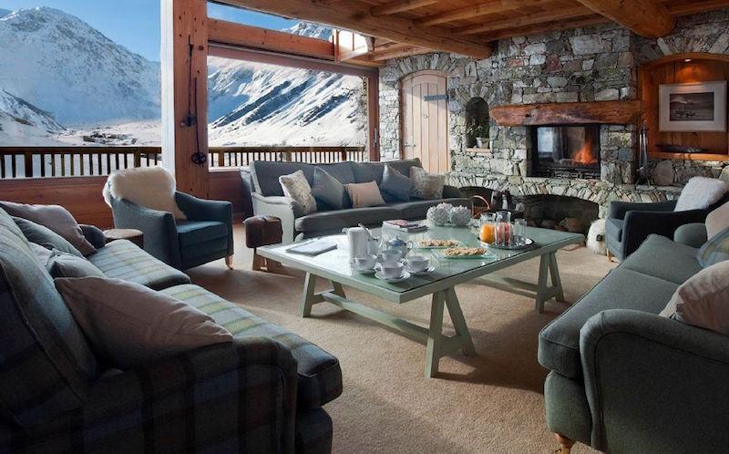 Chalet Le Chardon living room