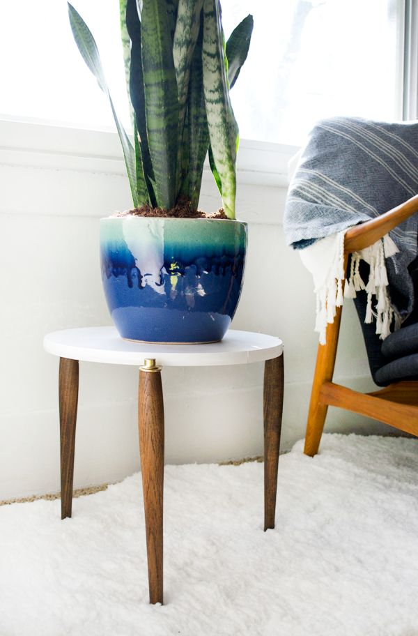 Chic Side Table with a mid century flair
