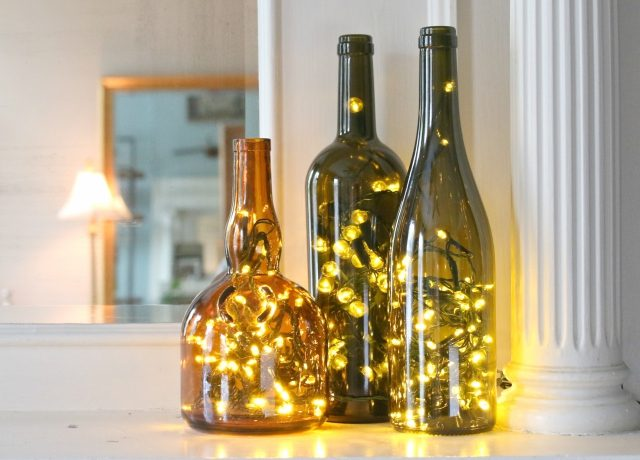 Christmas Lights In Bottle