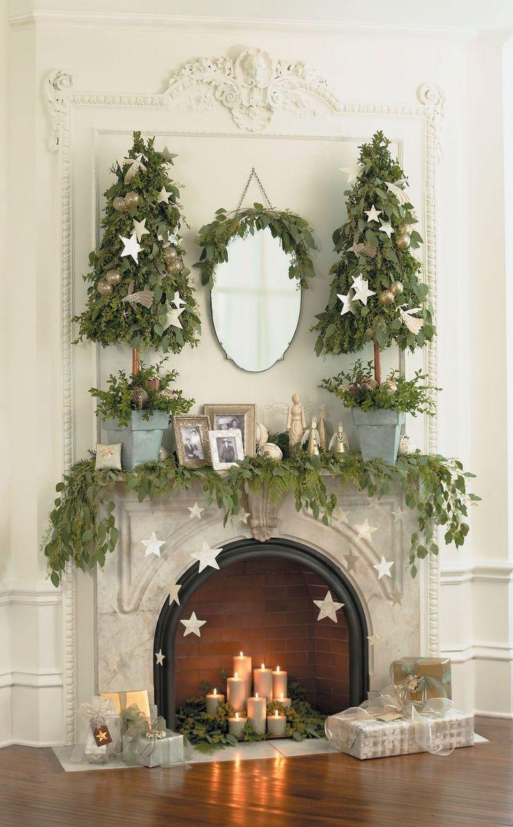 Christmas star mantel
