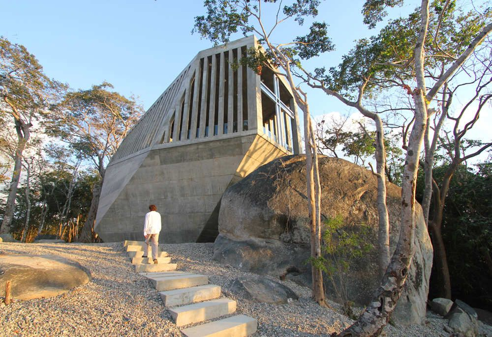 Concrete Sunset Chapel Architecture