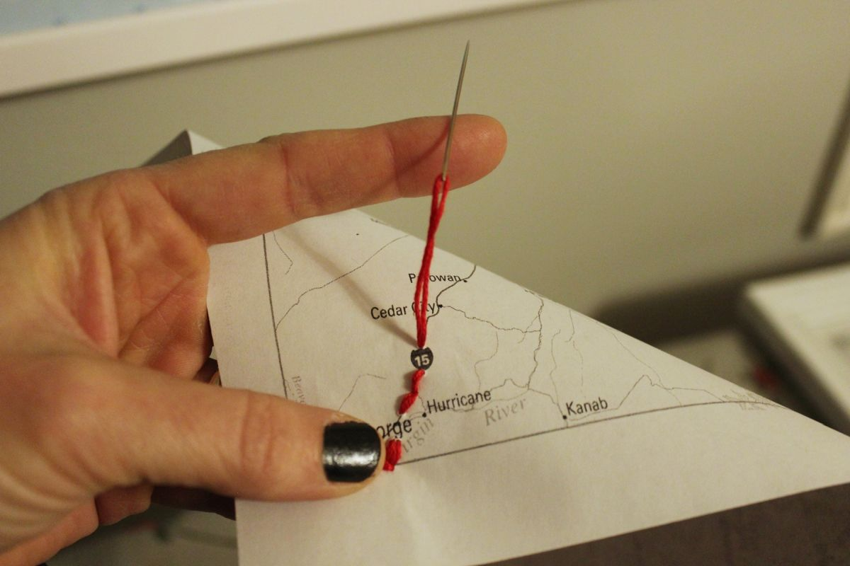 DIY Embroidered Map Floos
