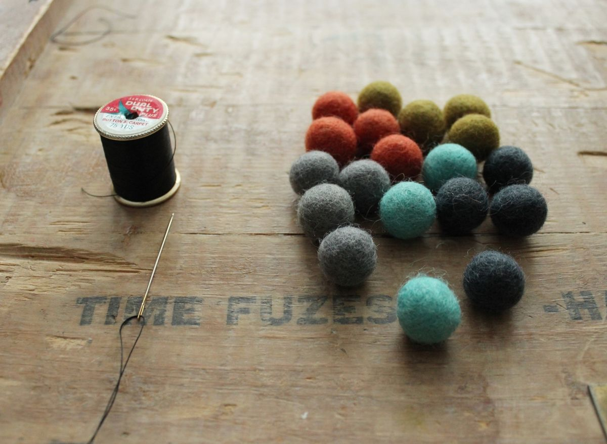 DIY Felt Ball Coasters - Materials