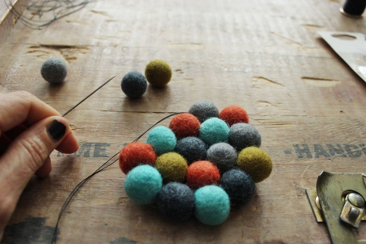 DIY Felt Ball Coasters - Project