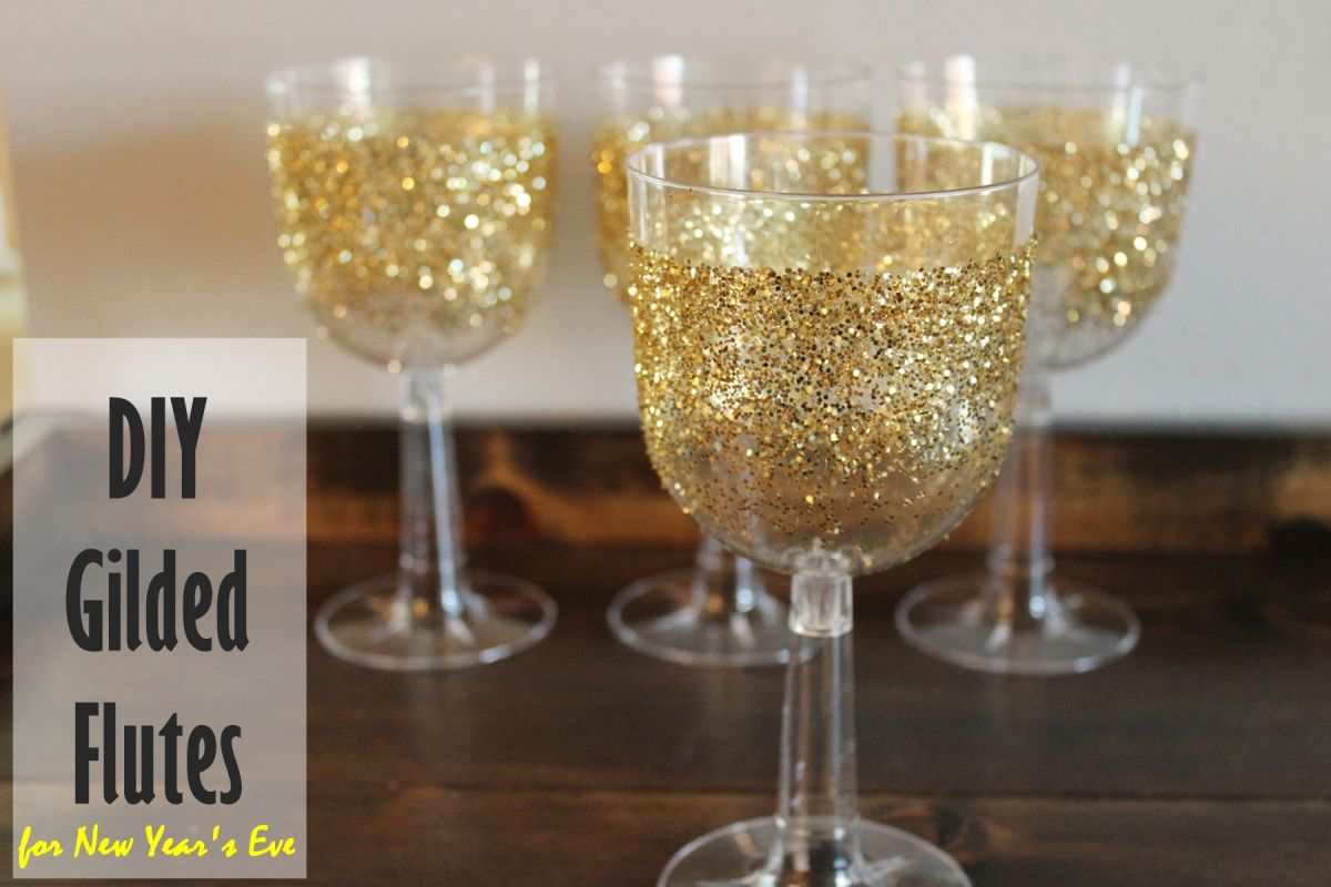 DIY Gilded Champagne Flutes