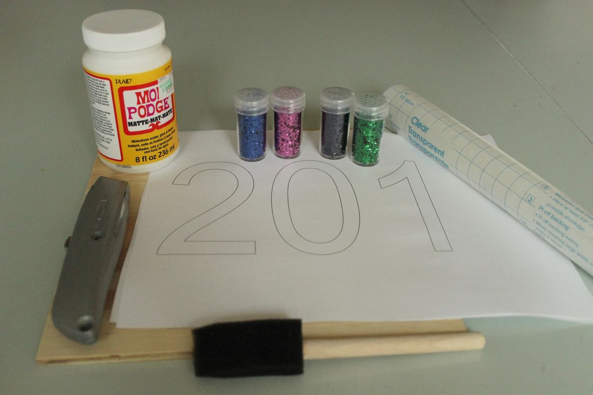 DIY Glitter Candles - Materials