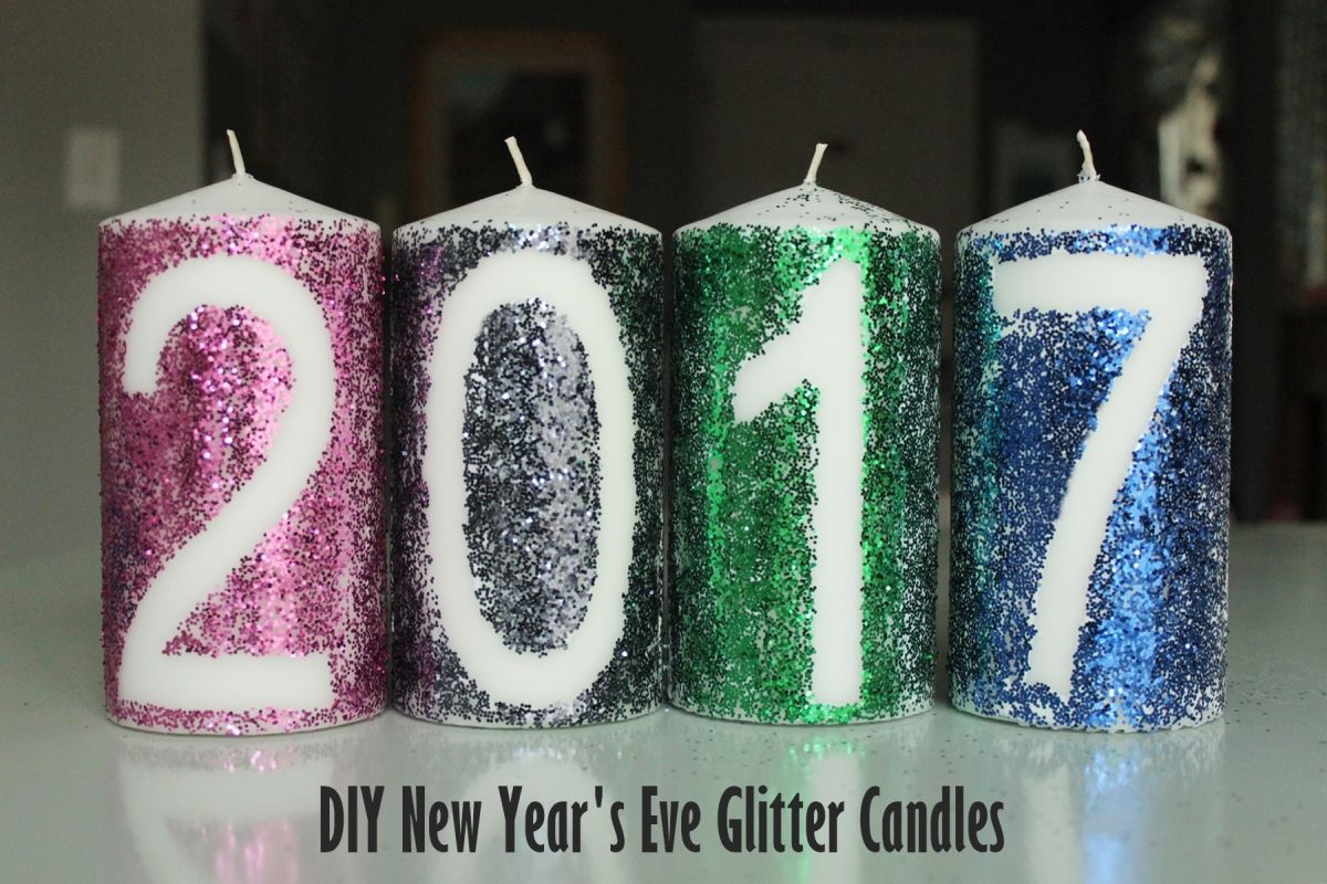 DIY Glitter Candles for New Years