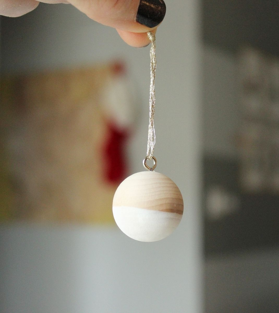 DIY Scandinavian Wooden Ornaments Craft
