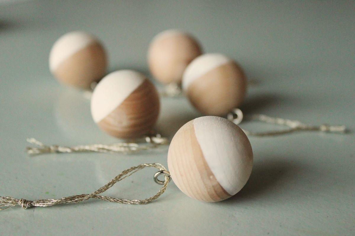 DIY Scandinavian Wooden Ornaments - add string