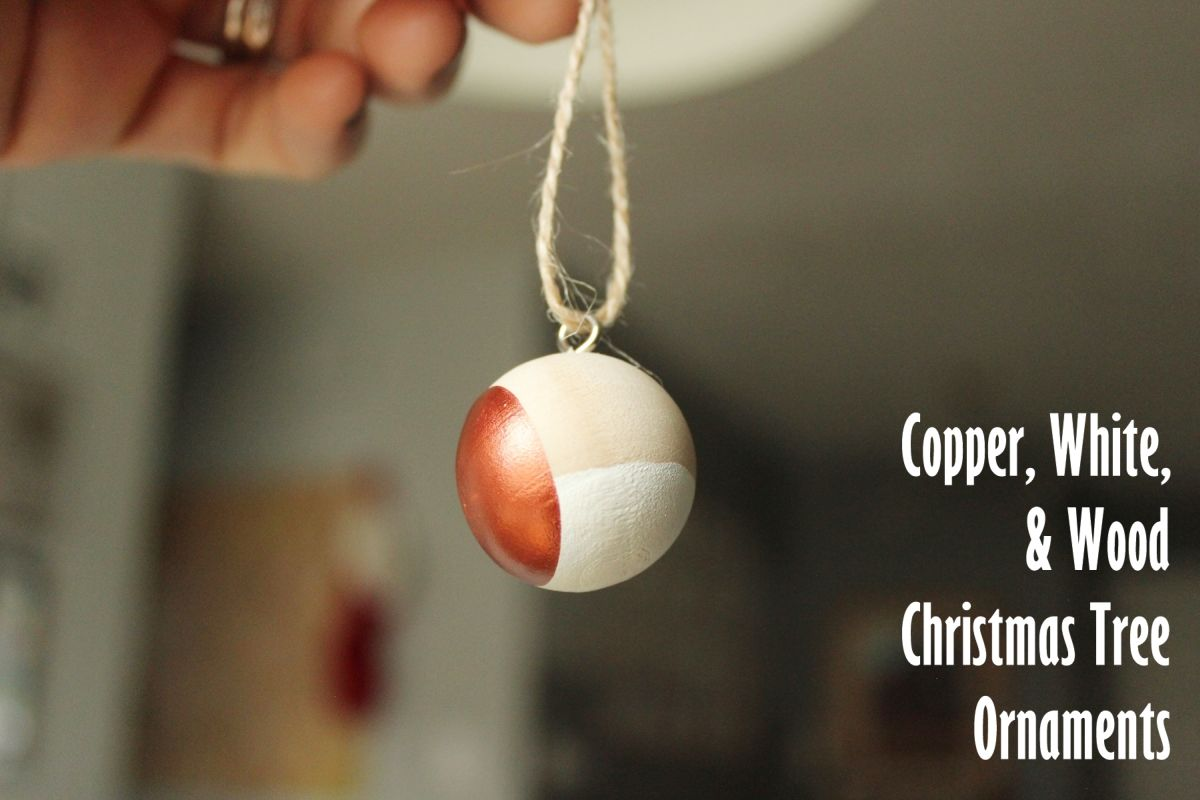 DIY Scandinavian Wooden Ornaments - with copper