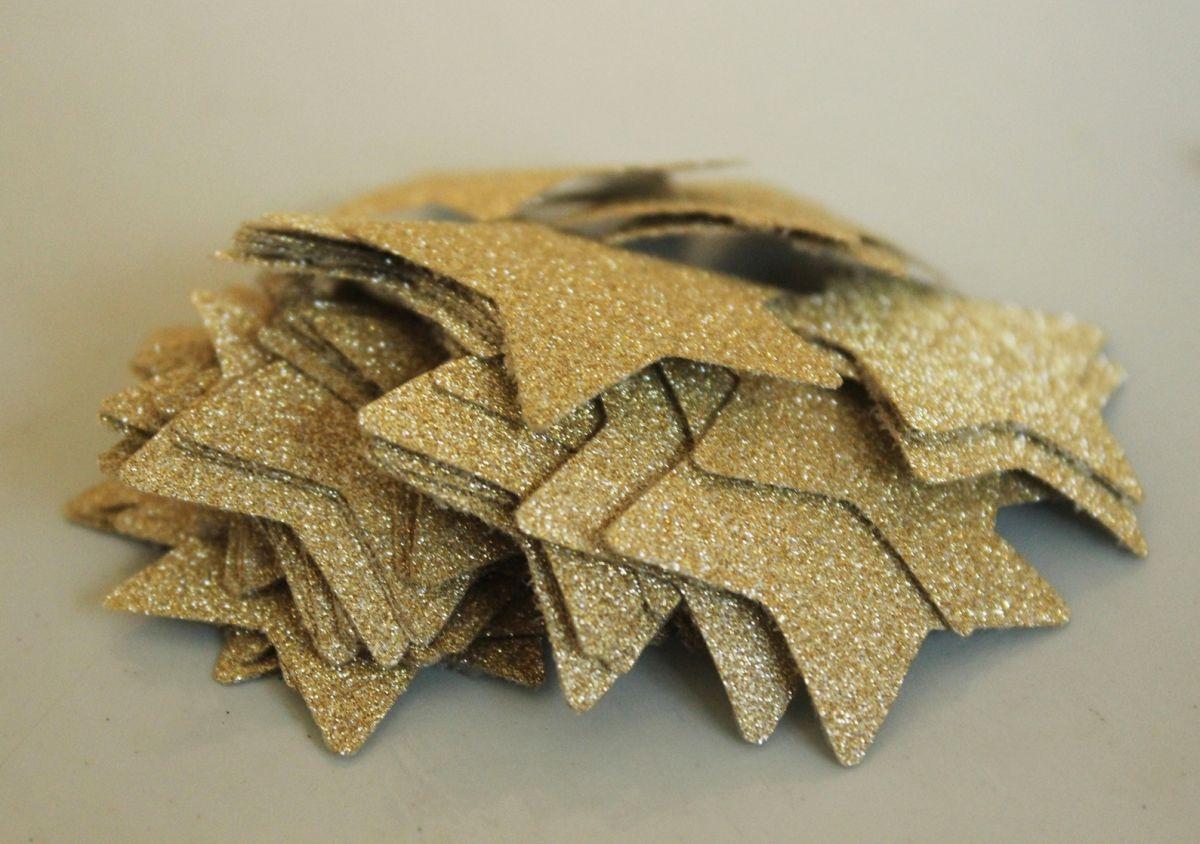 DIY Shimmery Star Garland - Punch Stars