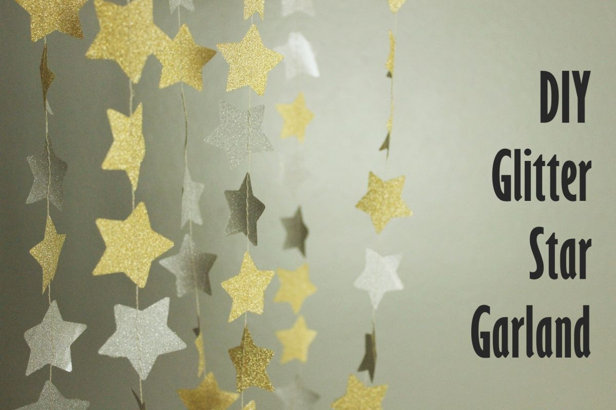 DIY Shimmery Star Garland
