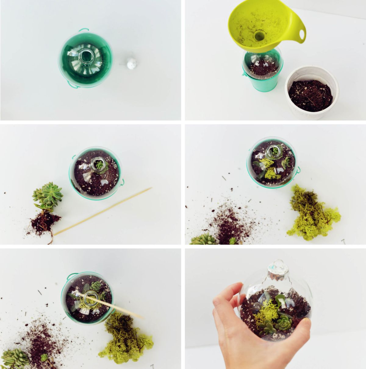 DIY Terrarium Ornaments Instructions