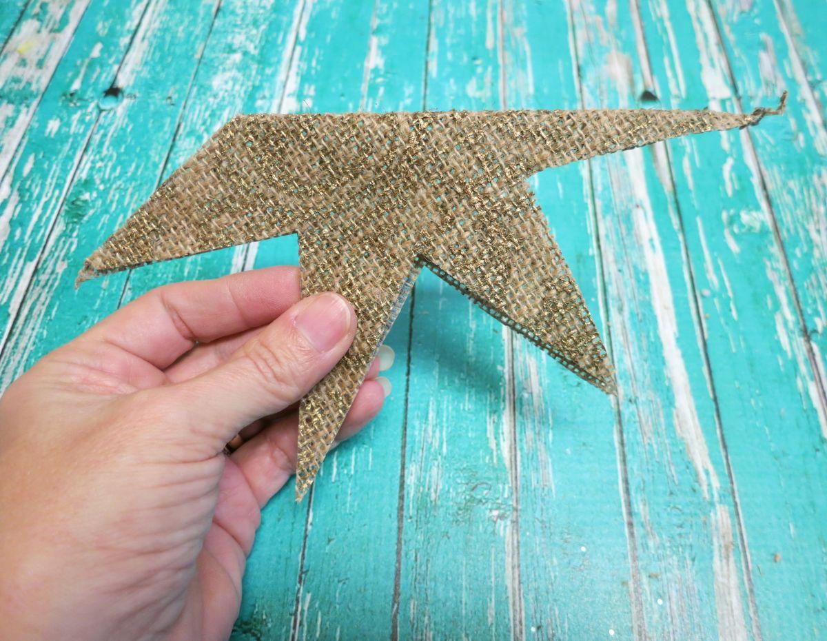 DIY burlap star