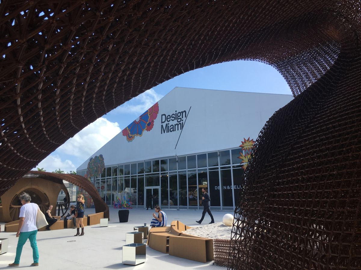 The large 3-D printed structure dominated the entrance plaza.