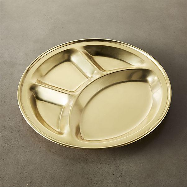 Divided gold platter
