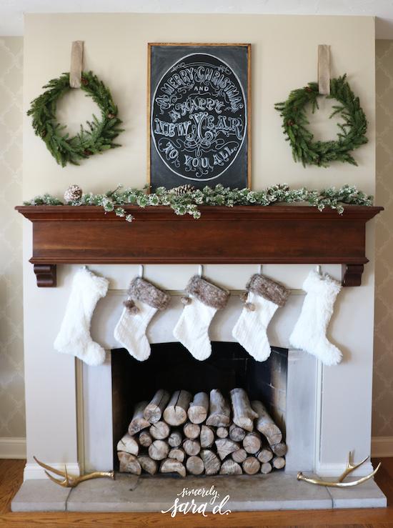 Duel wreath mantel