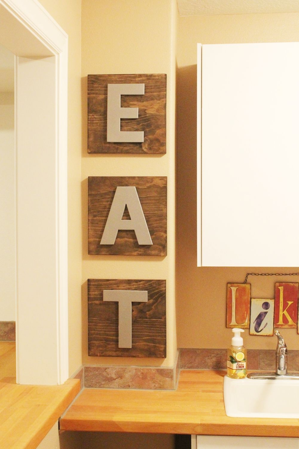 Eat Boards on kitchen