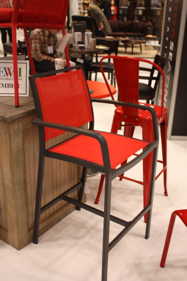 A set of bright bar stools will be the center of attention at your next party.