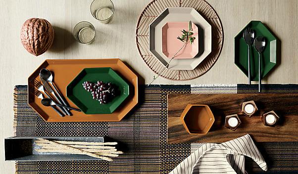 Geometric platter set