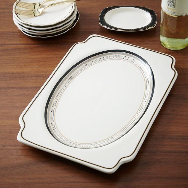 Gilded edge platter