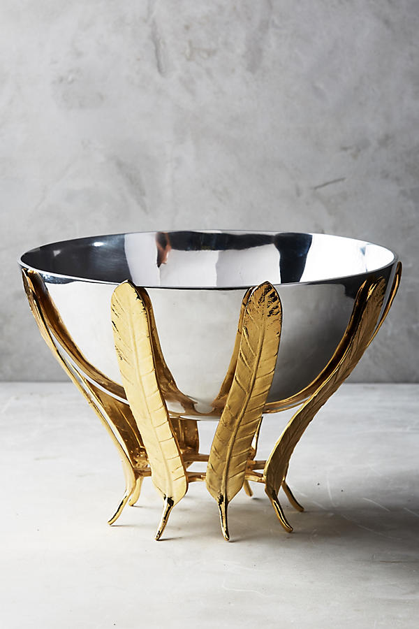 Gilded feather bowl