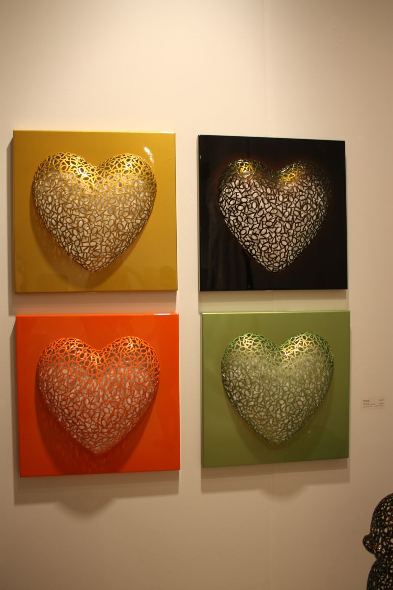 Hearth Shaped Wall Art in Many Colors