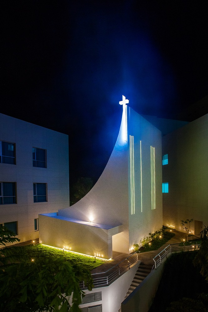 Holy Ghost Chapel on Night