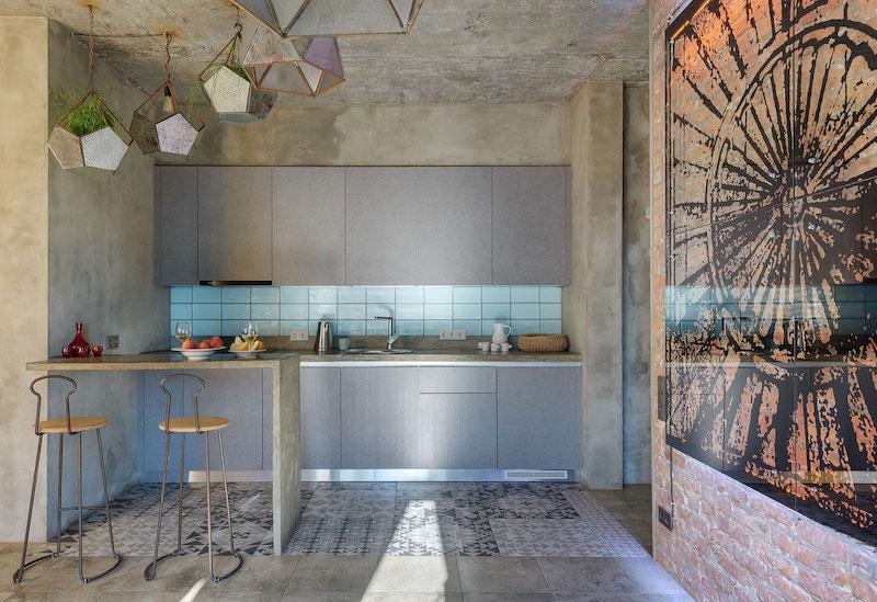 House of the Sun kitchen backsplash