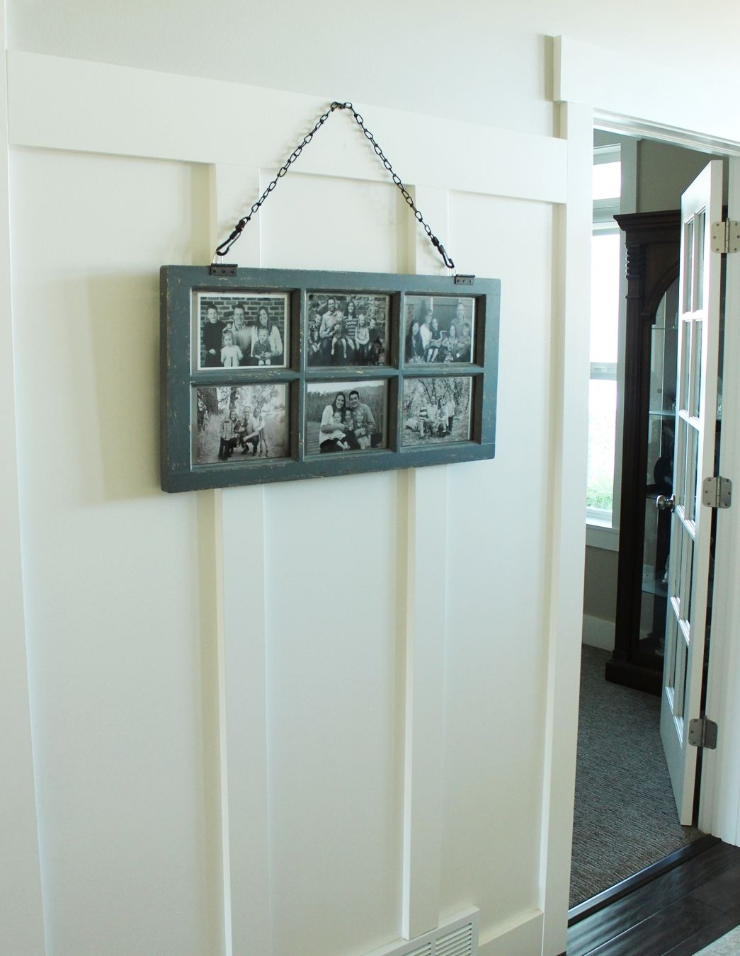 How to Decorate Entryway - multi-photo display board