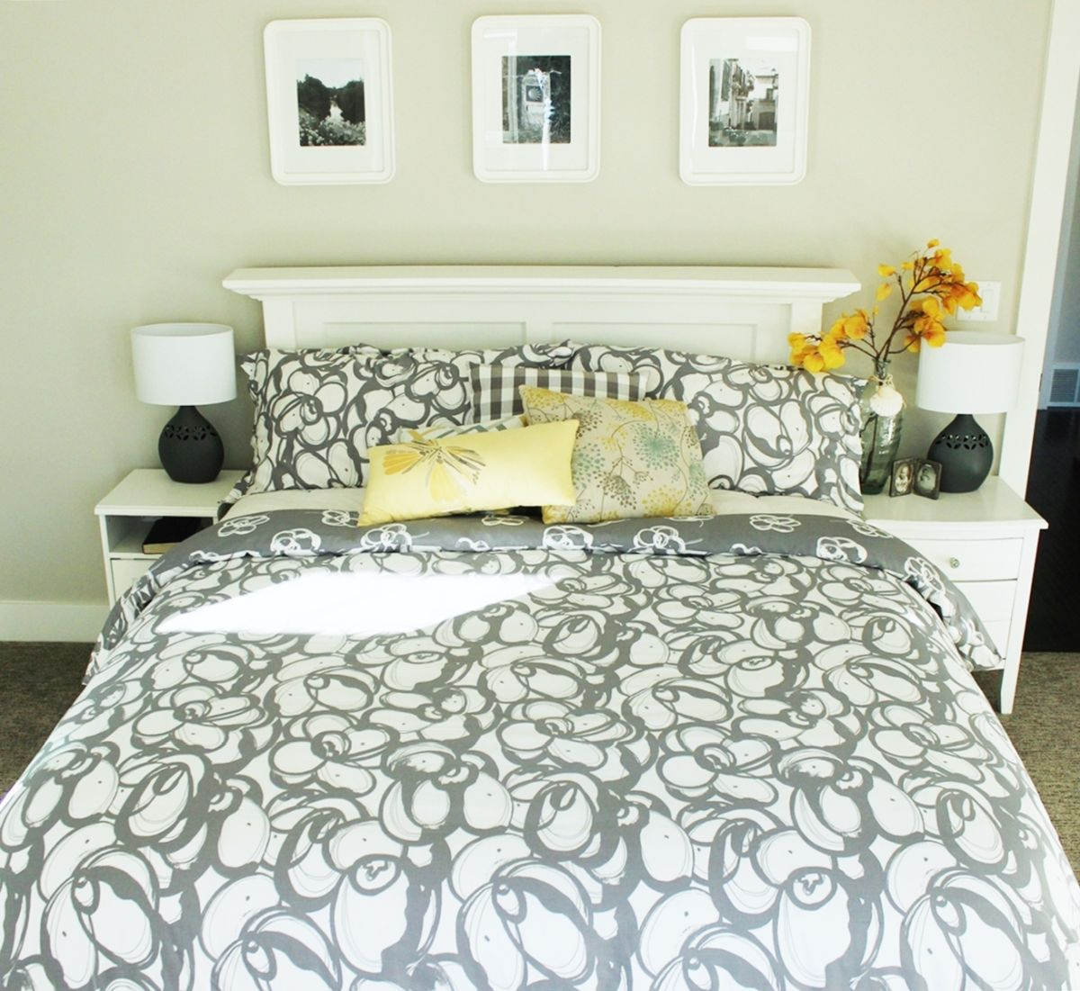 How to Make a Bed - Grey Bedding