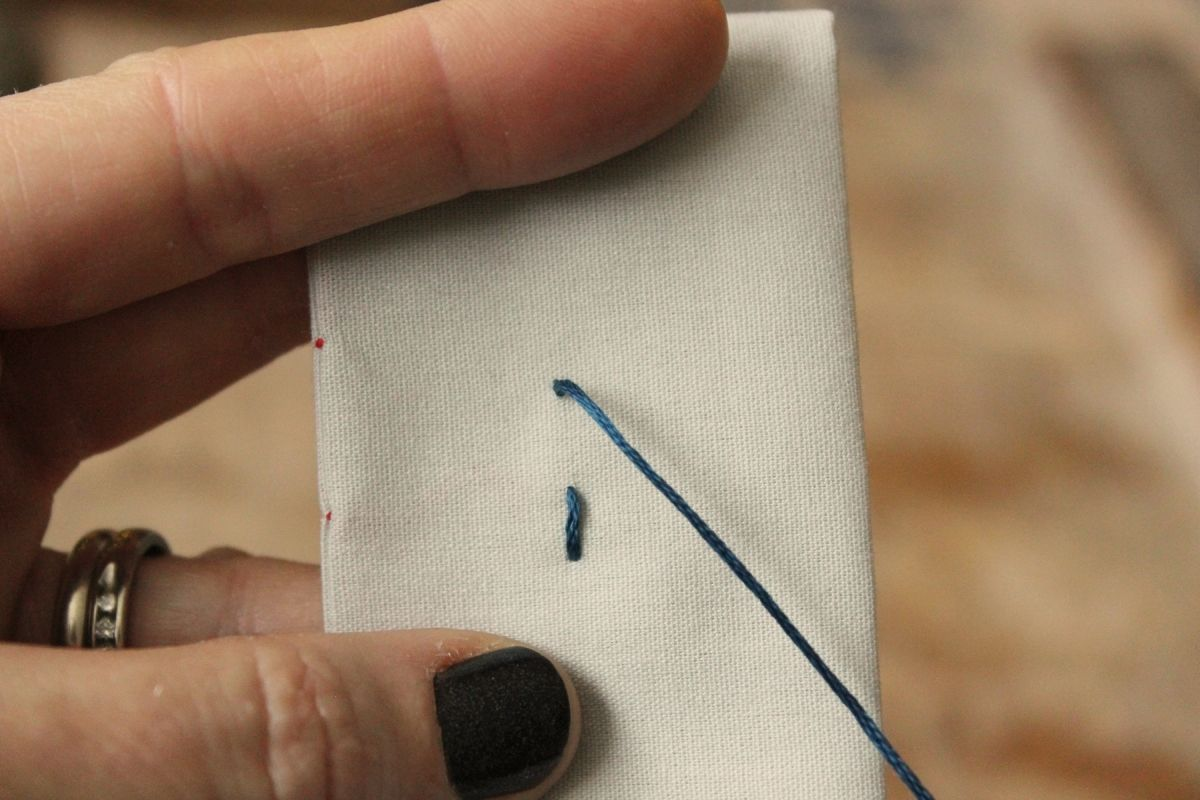 How to Sew - top of the fabric