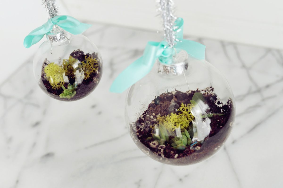 How to make terrarium Christmas Tree Ornaments
