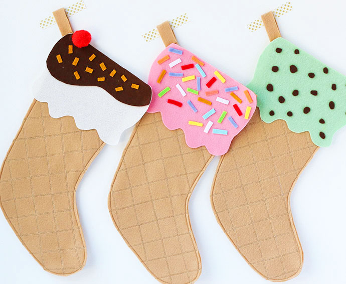 Ice cream Christmas Stocking