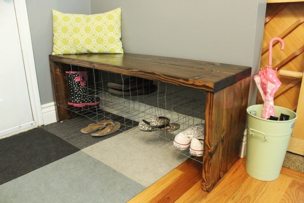 Industrial Entry Shoe Bench