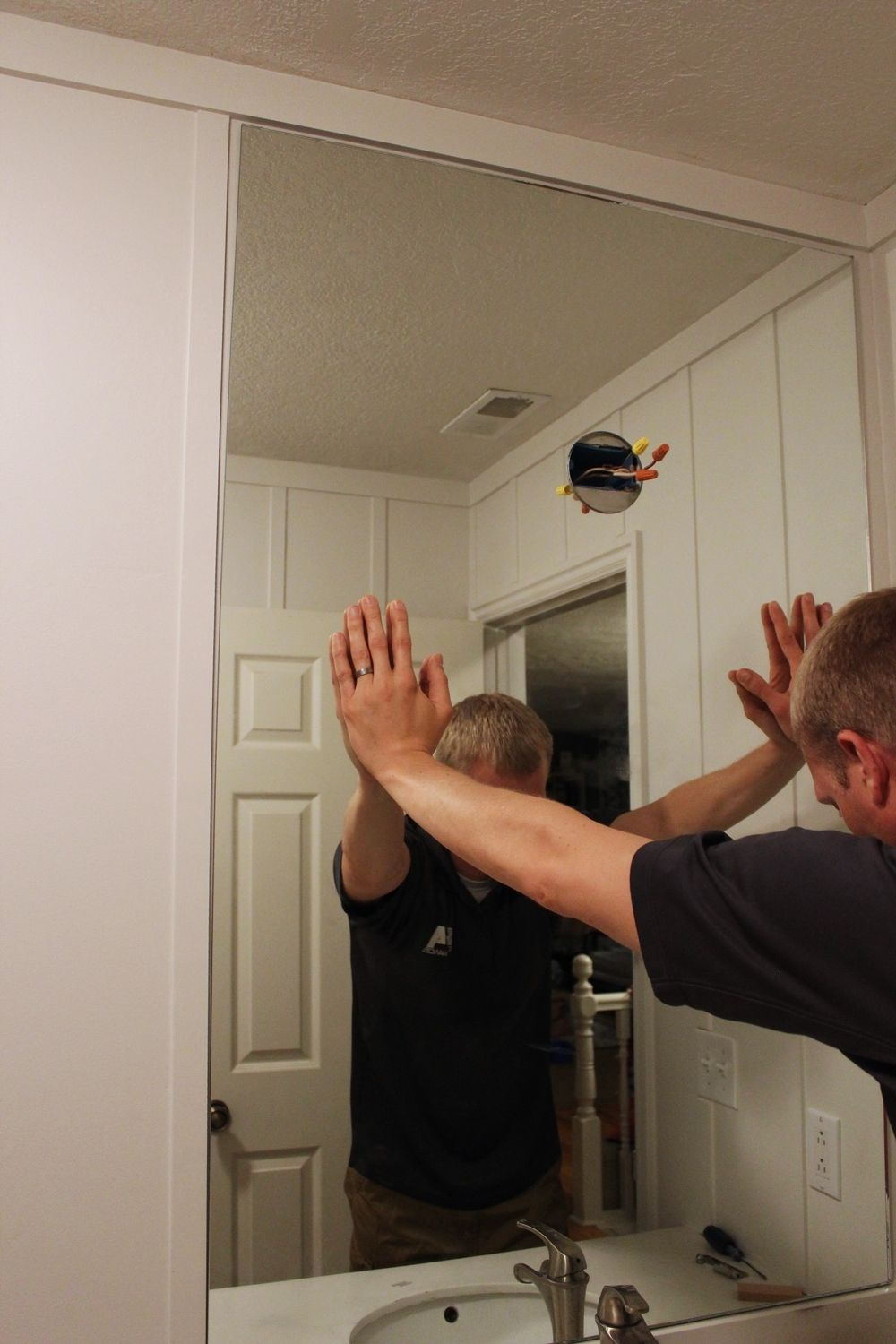 Installing a large mirror