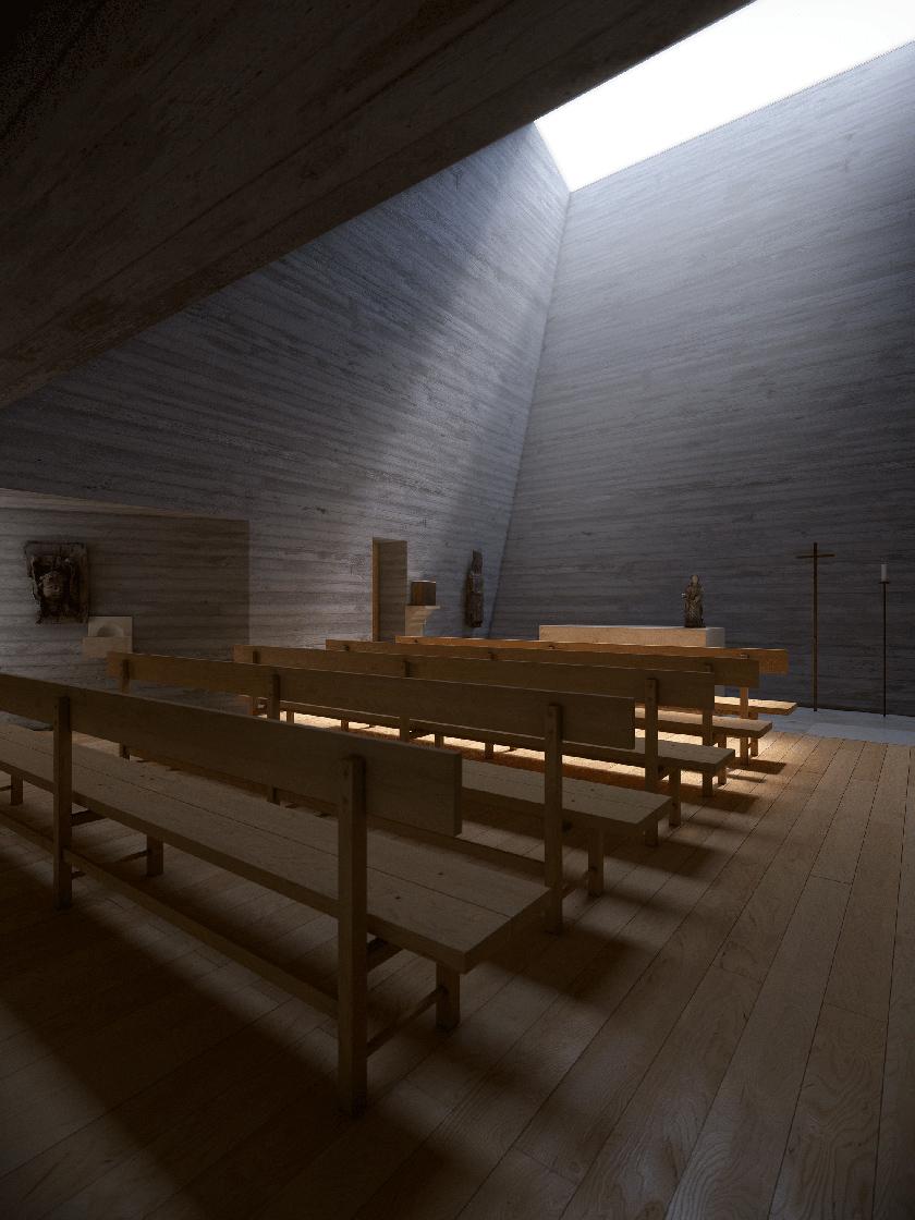 Interior A Chapel from Joaquim Portela Arquitetos