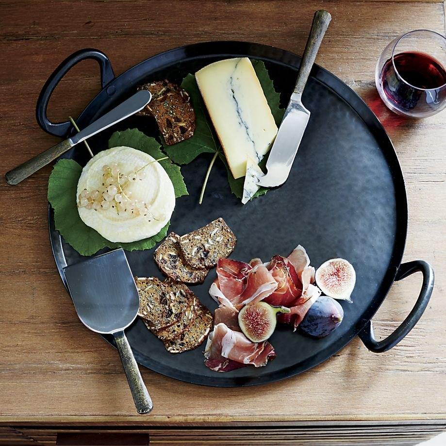 Iron serving platter
