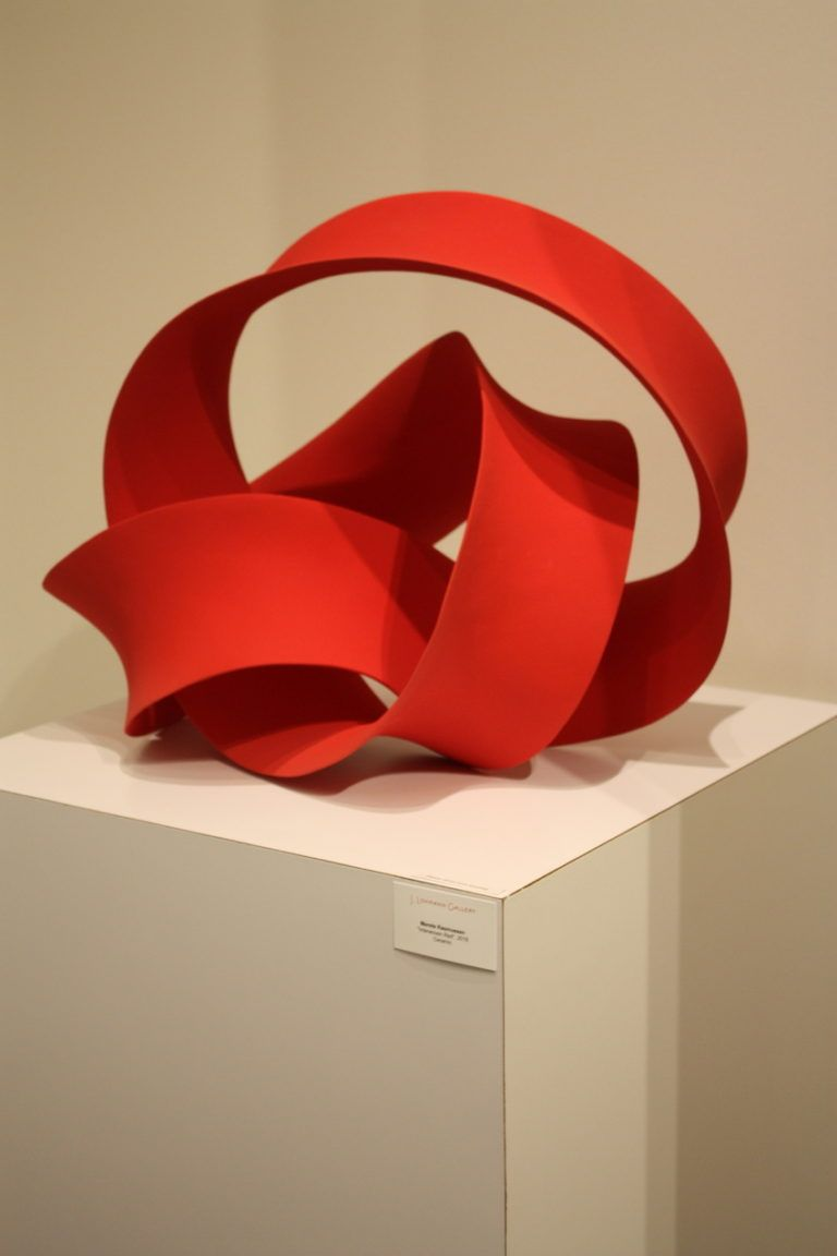 A modern sculpture from J Luhrmann Gallery.
