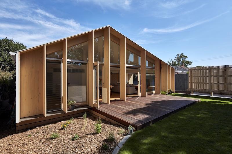 Lean To House back facade