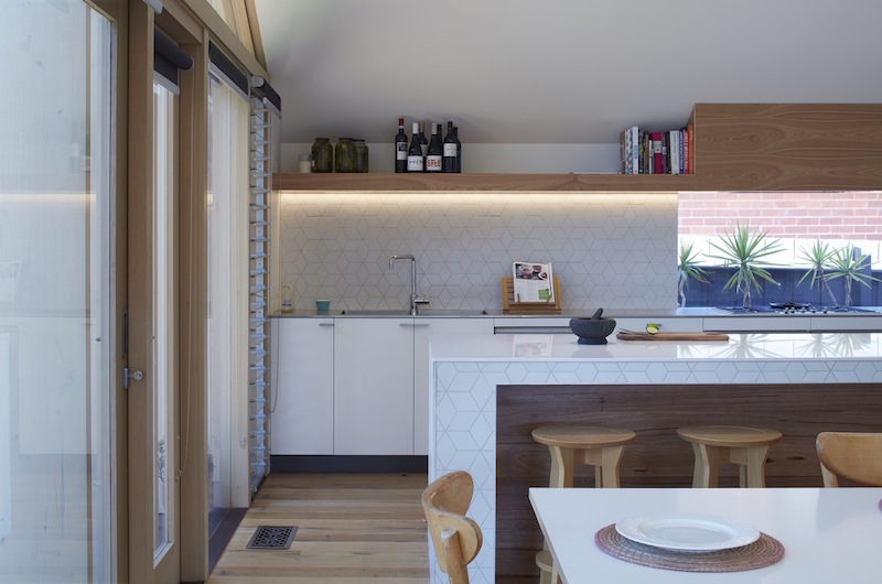 Lean To House kitchen counter