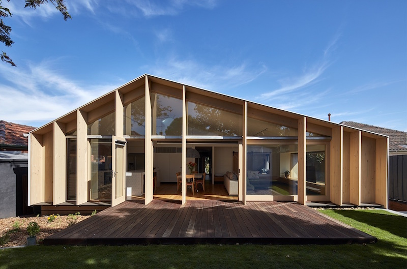 Sustainable Extension For A 1960s Mono Pitch Roof House