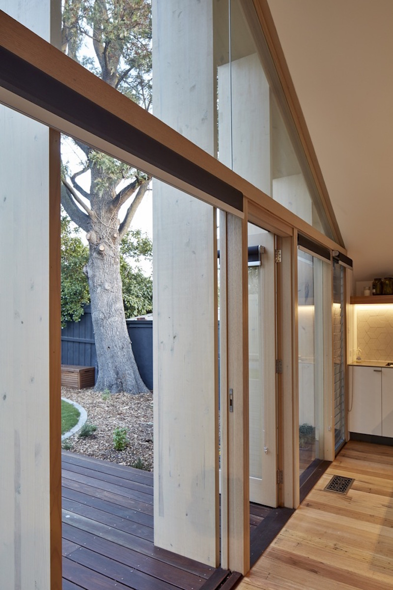 Lean To House timber fins